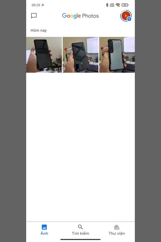 Các ảnh đã được chia sẻ lẫn nhau qua các tài khoản Google Photos